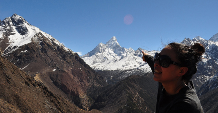 Ama Dablam view from Everest View Hotel