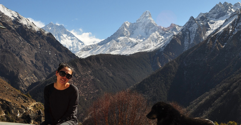 view from Everest View Hotel